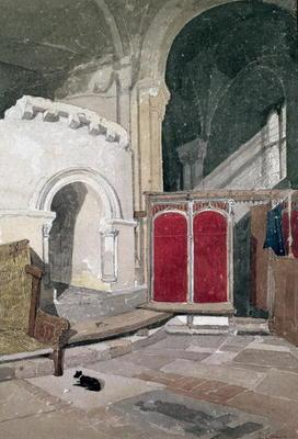 Interior of Norwich Cathedral (w/c on paper)