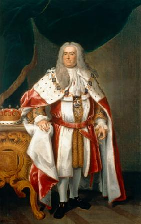 Portrait of Sir Robert Walpole (1676-1745) Earl of Orford