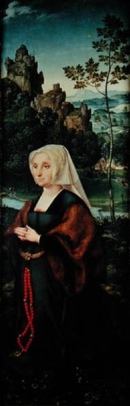 Wife of a donor kneeling by a river  (pair of 155176)