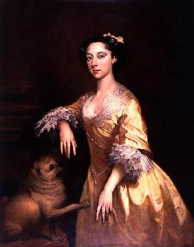Lady with a Pug Dog