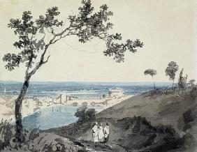 Rome, after Richard Wilson (1714-82) (pencil & w/c on paper)