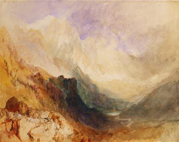 View along an Alpine Valley, possibly the Val d'Aosta