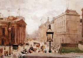 Pall Mall from the National Gallery, with a view of the Royal College of Physicians