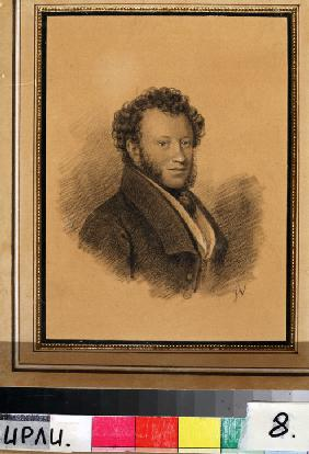 Portrait of the author Alexander S. Pushkin (1799-1837)