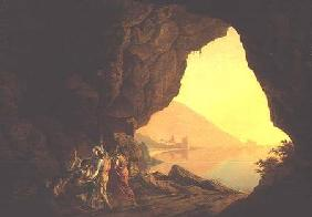 A Grotto in the Kingdom of Naples, with Banditti