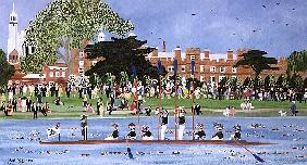 The Procession of Boats at Eton College