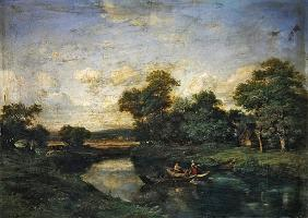 Landscape at the edge of a river