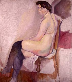 Nude with Black Stockings