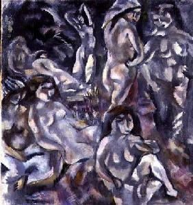 Eight Women in the Nude