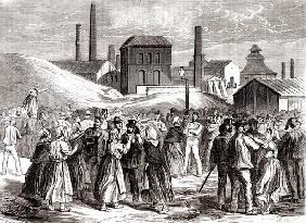 Women Demonstrating at the Le Creusot coal mine in April 1870