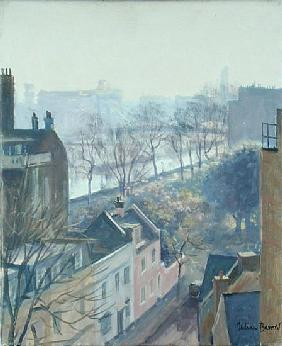 Chelsea Embankment from Tite Street (oil on canvas)