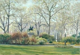 St. James''s Square (oil on canvas)