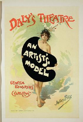 Reproduction of a poster advertising 'An Artist's Model' by George Edwardes' Company, Daly's Theatre