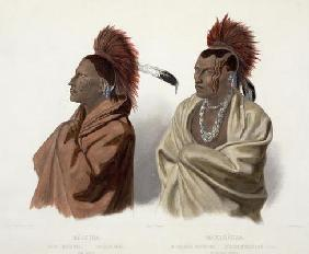 Massika, a Saki Indian, and Wakusasse, a Musquake Indian, plate 3 from Volume 2 of 'Travels in the I