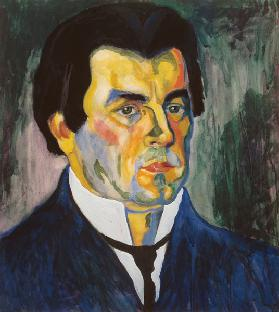 Kasimir Malevich, Self-portrait 1908