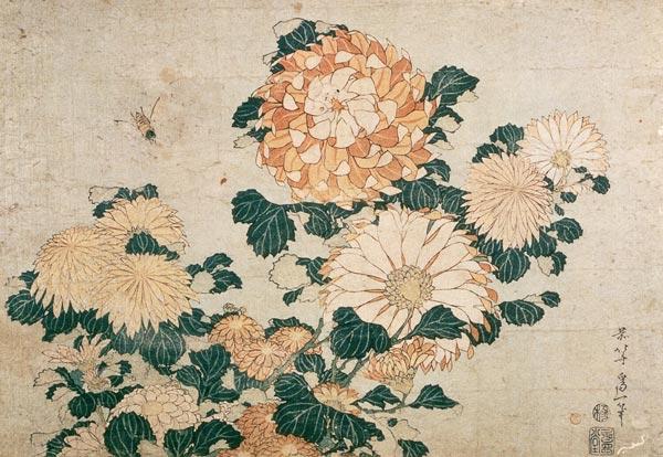 reproduction sur toile Reproduction pr/ête /à accrocher toile sur ch/âssis image sur toile v/éritable pr/ête /à accrocher Tableau sur toile 30 x 40 cm: Flowers and a bird de Katsushika Hokusai