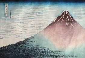 Fuji in Clear Weather'', from the series ''36 Views of Mount Fuji'' (Fugaku sanjurokkei) (see also 7