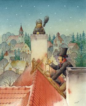 Chimney-sweep Christmas 02, 2001 (w/c on paper)