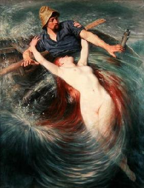 The Fisherman and the Siren (oil on canvas)