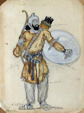 Costume design for the opera Prince Igor by A. Borodin