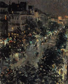 Paris at night, Boulevard des Italiens