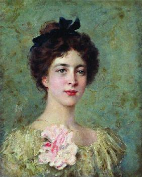 Portrait of a young girl with Pink Bow
