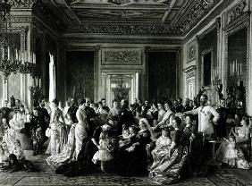 The Family of Queen Victoria, 1887 (engraving) (b/w photo)