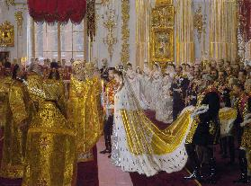 The wedding of Tsar Nicholas II and the Princess Alix of Hesse-Darmstadt on November 26, 1894