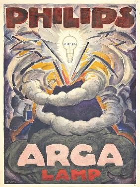 Poster advertising Philips Arga Lamp