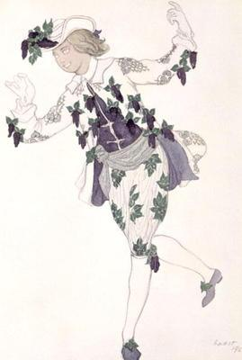 Costume design for the Pageboy of the Fairy Lilac, from Sleeping Beauty, 1921 (colour litho)