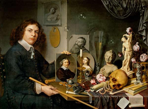 Vanit autoportrait avec nature morte tableau de david bailly - Vanite simon renard de saint andre ...