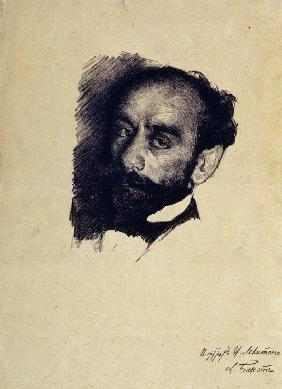 Portrait of the artist Isaac Levitan (1861-1900)