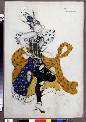 Péri. Costume design for the ballet La Péri by P. Ducas