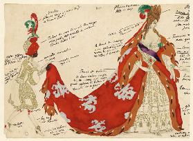 Costume design for the ballet Sleeping Beauty by P. Tchaikovsky 1921