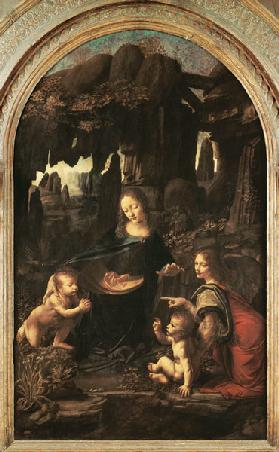 Madonna in the rock grotto (first setting)