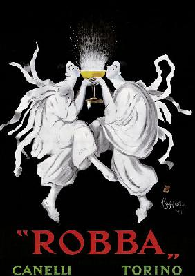 Poster advertising 'Robba' sparkling wine