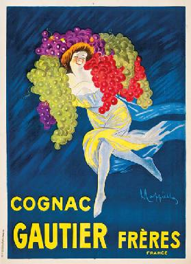 An advertising poster for Gautier Freres cognac