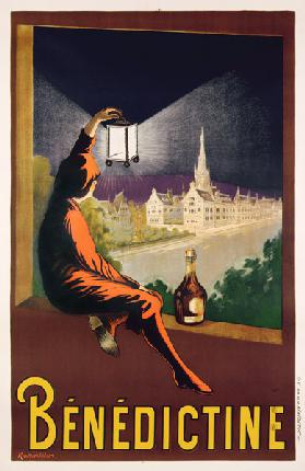 Poster advertising 'Benedictine' liqueur