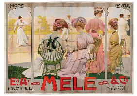 Advertising poster for the Mele Department Store of Naples