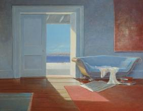 Beach house, 1995 (acrylic on board)