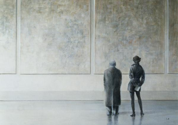 Man and Woman in an Art Gallery