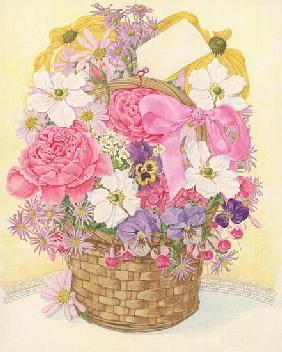 Basket of Flowers, 1995 (w/c on paper)
