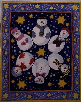 Snowman and Stars