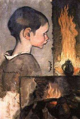 Profile of a child and a study of a still life