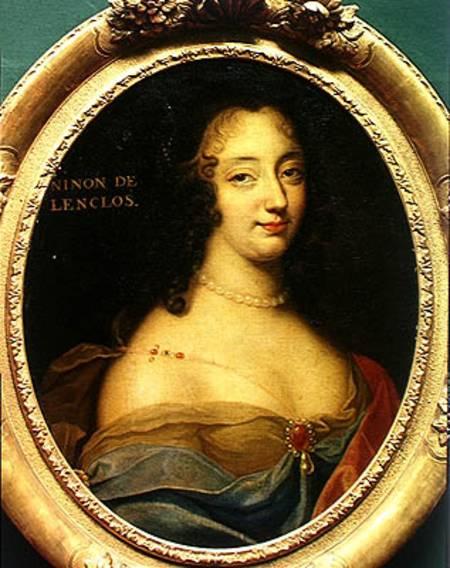 Portrait of Ninon de Lenclos (1620-1705) - Louis Ferdinand Elle en  reproduction imprimée ou copie peinte à l'huile sur toile
