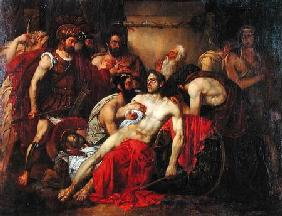 Gallait, Louis : The Death of Epaminondas (...