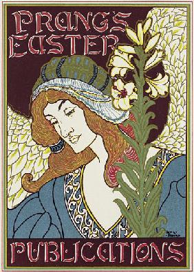 Poster advertising Prang's Easter Publications