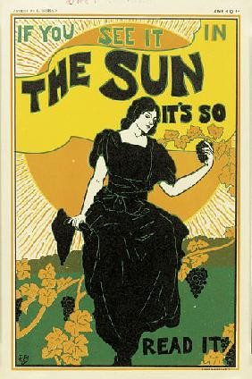 Poster advertising 'The Sun' newspaper