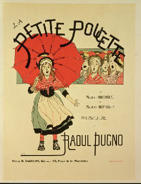 Reproduction of a poster advertising the operetta 'La Petite Poucette'