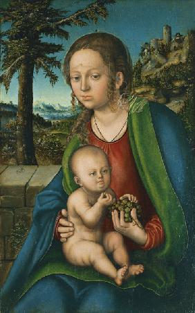 The Virgin with Child with a Bunch Grapes